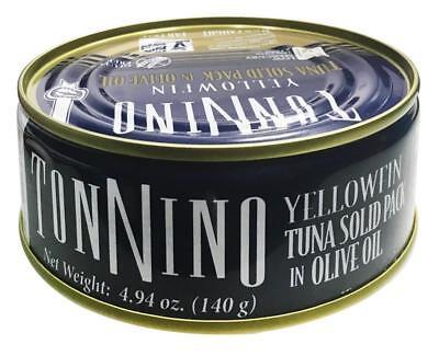 Tonnino Tuna-YELLOWFIN TUNA FILLETS SOLID IN OLIVE OIL (12-4.9 (Tonnino Tuna Fillets)