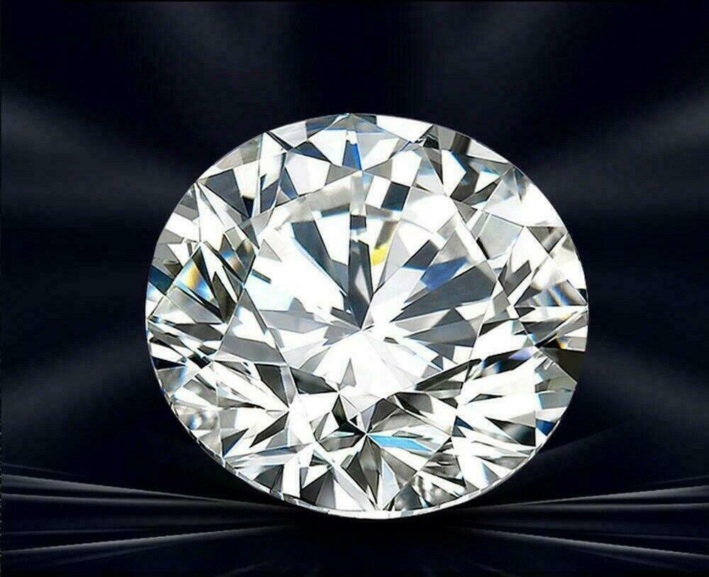 New 1 Carat Excellent Cut For White Diamond D Color 6.5mm Ro