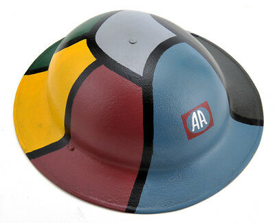 US WW1 Helmet M1917 Doughboy Brodie Helmet 82nd Airborne Cammo for sale  Ada