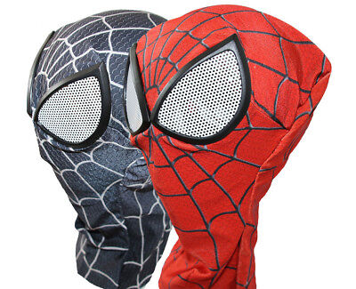 US SHIP Spiderman Mask Lycra Soft Cosplay Halloween Costume Props Adult Unisex](Halloween Masks Costumes)