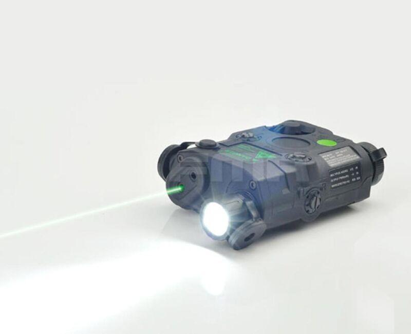 Black PEQ-15 White LED light Green laser IR Lenses Aiming Module Tail control