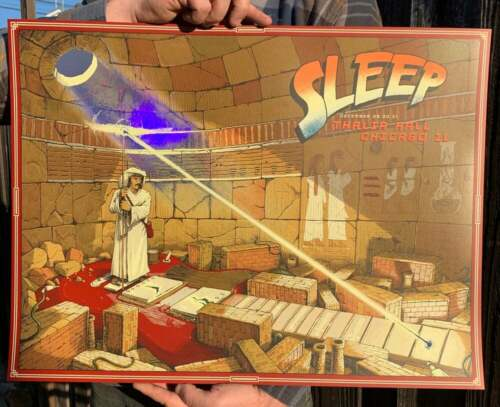Sleep Poster 12/29-31/2019 NYE Thalia Theater Chicago IL Signed A/P Version