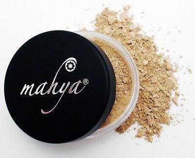 NEW! MAHYA XL 10g NATURAL MINERAL FOUNDATION, MEDIUM BEIGE! BEST (Best Natural Mineral Foundation)