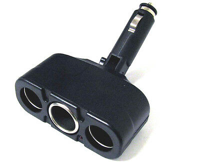 3 Way Socket Splitter Car Cigarette Lighter Charger Adapter 12V New