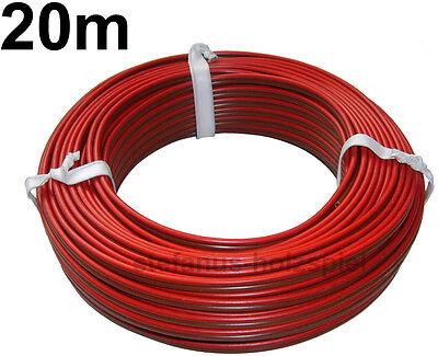 20m Litze rot-braun 2-adrig  0,75 mm²  / 2x24x0,20  Kabel für Modellbahn * NEU