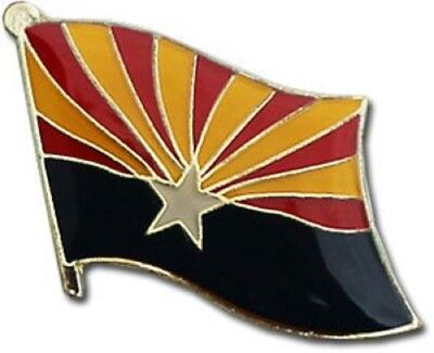 Wholesale Pack of 50 State of Arizona AZ Flag Bike Hat Cap lapel Pin