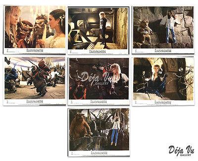 Labyrinth Lobby Card Set A of 7 - David Bowie - 1986  - NM