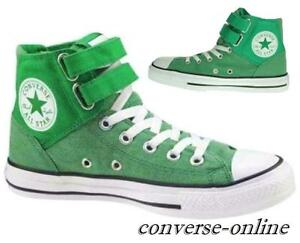 Women's Men's CONVERSE All Star 2 STRAP HIGH TOP GREEN Trainers Boots UK SIZE 5