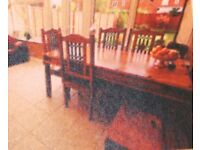 Solid Jali Sheesham Indian wood table & 6 chairs