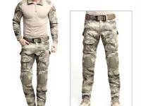 Tactical camouflage uniform suit. M/S Size.