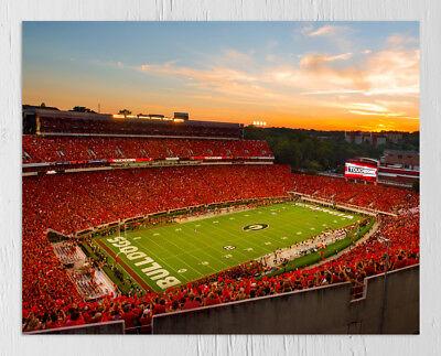 - UGA: Georgia Bulldogs Sanford Stadium Redout Photo Art Print - Made in Athens