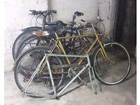 Vintage Job Lot Steel Bicycles Frames BSA Holdsworth Trek New Hudson