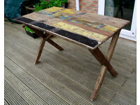 Modern Rustic, Industrial Reclaimed Wood Dining Table