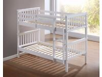 ●●● Strong convertible Porto pine wood bunk bed in two colors ●●●