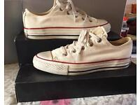 Converse all star size 4 distressed colour as new with box