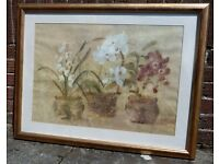 Picture Frame - Large With Cheri Blum Flower Print
