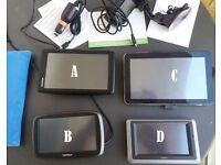 4 Differents SatNav GPS