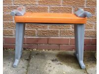 Garden Seat and Kneeler in Grey & Orange
