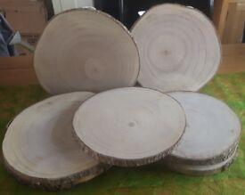 Rustic wooden log discs - wedding / home / garden decoration