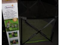 Summer Pop and Play childs Playpen very good condition