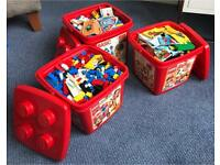 3 boxes of Lego