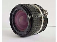 Nikon nikkor 28mm f2.8 manual focus lens