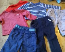3-6 months boys clothes bundle- mothercare, next, M&S, earlydays. Tops and trousers.