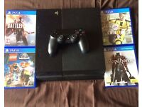 PS4 WITH 4 GAMES **eject button**