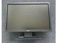 "Acer 19"" Wide Screen desktop monitor"