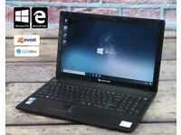 Packard Bell PEW91 laptop with 6 months warranty and windows 10 latest version 1803