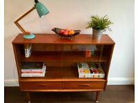 Vintage Mid Century Teak Cabinet / Bookcase
