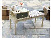 Shabby chic telephone hall seat