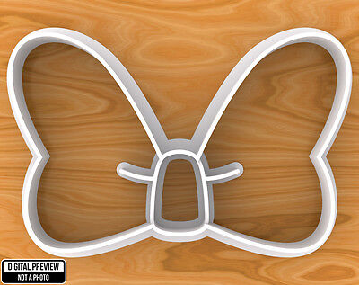 Minnie Mouse Bow Knot Cookie Cutter, Selectable sizes.](Minnie Mouse Bow Cookie Cutter)