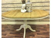 5FT EXTENDING SOLID PINE FARMHOUSE TABLE IN FARROW & BALL CAN DELIVER