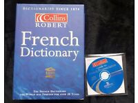 Collins French dictionary and audio CD