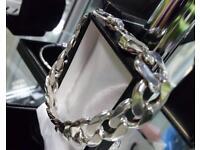 Silver Curb bracelet 66 gram
