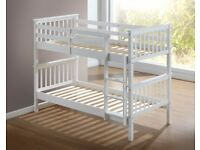 Cash On Delivery Single Wooden Bunk Bed Frame With Semi Mattress Option