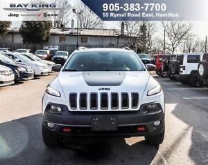 2016 Jeep Cherokee TRAILHAWK 4X4, BACKUP CAM, LEATHER, BLUETOOTH
