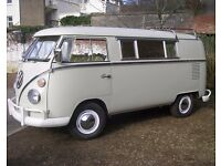 VW SPLIT SCREEN RIVIERA CAMPER VAN. 1966, LHD