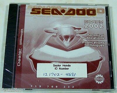 NEW OEM BOMBARIER SEA-DOO 2002 TECHNICAL PUBLICATIONS CD-ROM 219 700 232