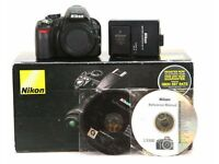 Nikon d3100 dslr body with charger