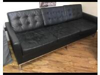 3 seat Italian Leather Sofa
