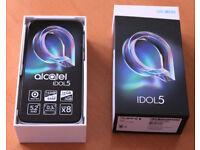 "BRAND NEW Alcatel IDOL 5 6058D 16GB with 3GB RAM (Dual Sim) 5.2"" 4G UK Sim-Free Smartphone"