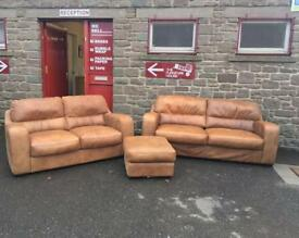 High Quality RRP £2500 leather suite * free furniture delivery *