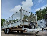 IFOR WILLIAMS TRAILER DROP SIDE FLAT BED PLANT MACHINE FARM LM 186 FULL MESH KIT