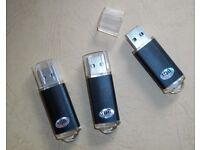 3 x 1GB USB 2.0 Memory Stick Flash Storage