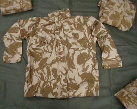 British Army Issued, Desert Pattern Goretex Jacket in Size XL