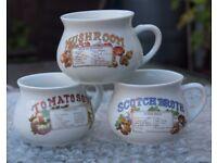 Three Soup Recipe Mugs