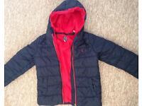 Boys JOULES Navy Winter Warm Puffa Coat Jacket Age 8 Years