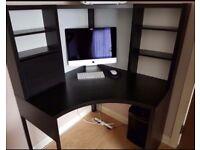 Black IKEA computer desk